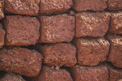 Red brick wall. Texture of red brick wall Royalty Free Stock Photography