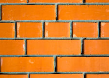 Texture of red brick wall background, modern architecture. Toned Stock Photo