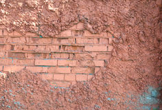 Texture of red brick wall Stock Images