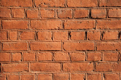 Texture of red brick wall Stock Photo