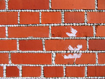 Texture with red bricks Stock Images