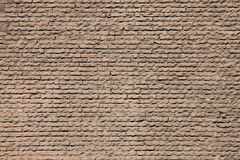 Texture of red bricks of ancient wall of Pantheon in Rome Royalty Free Stock Image