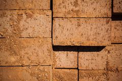 Texture of red bricks Royalty Free Stock Photos