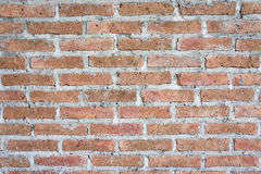 Texture red bricks wall background of old vintage Royalty Free Stock Photography