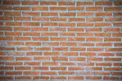 Texture red bricks wall background of old vintage Stock Photo