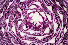 Texture of red cabbage, Scotch kale or purple cabbage Stock Images