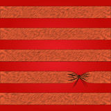 Texture. Red and every stripes with handmade knot Royalty Free Stock Photos