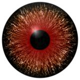 Texture red eye 3d with white lines. And black fringe Royalty Free Stock Images
