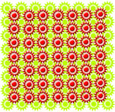 Texture from red and green figures Stock Photography