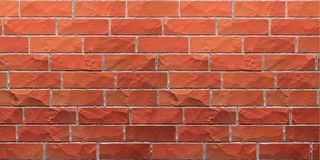 Texture of red grunge brickwall. 3d render royalty free illustration