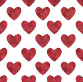 Texture of red hearts in the crystalline style Stock Photo
