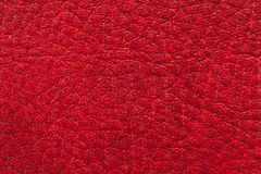 Texture of red leather. Photo shot of texture of red leather Stock Photography