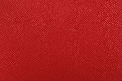 Texture of red leather Stock Photography
