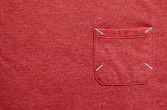 Texture of Red-Orange Fabric. Stock Photo