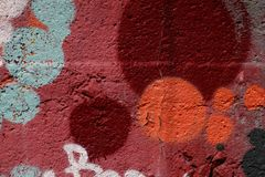 Texture of red paint on wall. Urban grunge texture background. stock images