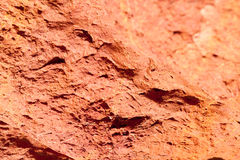 Texture of red rocky ground background at Seychelles Royalty Free Stock Photography
