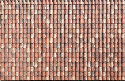 Texture of red roof tiles Royalty Free Stock Images