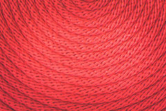 Texture of red rope Stock Photography