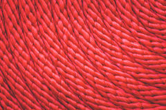 Texture of red rope Royalty Free Stock Images