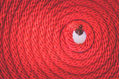 Texture of red rope Stock Images