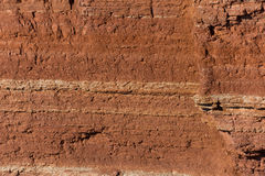 Texture of red sandstone cliffs Royalty Free Stock Images