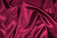 Texture of red satin silk Stock Photos