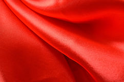 Texture red satin Royalty Free Stock Photography