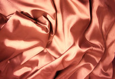 Texture of red silk Royalty Free Stock Photo