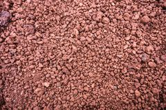 Texture of red stones of different size, brick color, Iceland Stock Images