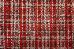 Texture of red tartan fabric Stock Photo
