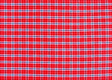 Texture of red tartan plaid textile fabric Stock Image