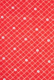 Texture of red tissue in cell scrapbooking Royalty Free Stock Images