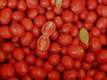 Texture of red tomatoes Stock Images