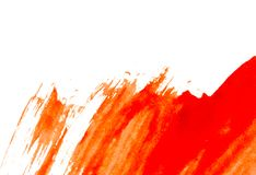 Texture of red watercolour paint on white paper. Watercolor background. Texture of red watercolour paint on white paper. Horizontal watercolor background stock photos