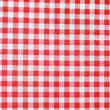 Texture of a red and white checkered picnic blanket. Stock Photo
