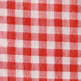 Texture of a red and white checkered picnic blanket. Royalty Free Stock Photography