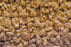 Texture of the reinforced concrete Royalty Free Stock Images