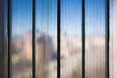 Texture of Reinforced Glass. Texture details of blurry reinforced glass, close-up view stock images