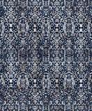 Batik damask tie dye texture repeat modern pattern. Texture repeat modern pattern with tie dye effect stock illustration