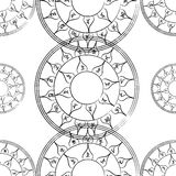 Texture with a repetitive pentacle pattern. Stock Images