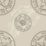 Texture with a repetitive pentacle pattern. Royalty Free Stock Images