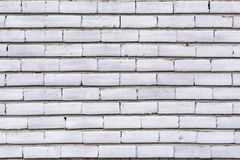 Texture a representação de um branco danificado velho da parede de tijolo pintado Fotos de Stock