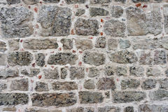 The texture of the restored walls with stones Stock Photography