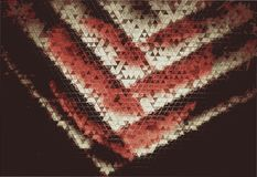 Texture of retro photos of illustration of a red heart in the form of a mosaic. royalty free stock photography