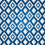 Texture of rhombus on a blue background. (seamless pattern). White rhombus in different kinds Vector Illustration