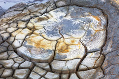 Texture of rocks melted by volcanic magma, Iceland Royalty Free Stock Photos