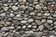 Texture ronde de mur de roche Image libre de droits