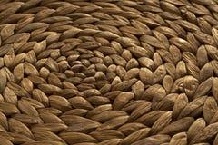 Texture ronde de tapis de paille Photos libres de droits