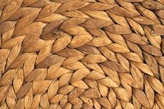 Texture ronde de tapis de paille Image stock