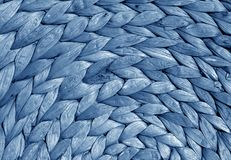 Texture ronde de tapis de paille de couleur bleue Photo stock